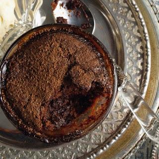 Self-saucing Coffee And Chocolate Puddings.