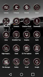 Wheels Red - Icon Pack screenshot 2
