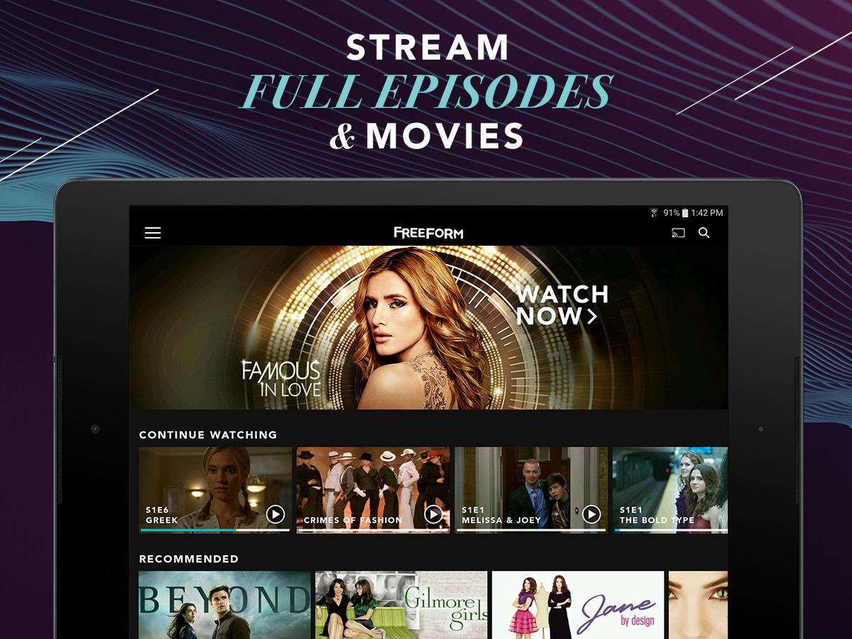 Freeform – Stream Full Episodes, Movies, & Live TV- screenshot