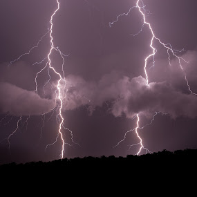 Two for the Price Of One by Gary Tindale - Landscapes Weather ( clouds, lightning, night, storm,  )