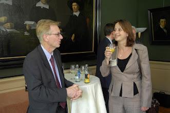 Photo: Ontvangst tijdens Galenus Geneesmiddelenprijs en Galenus Researchprijs 2007 in Naturalis te Leiden foto © Bart Versteeg