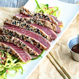 Sesame Crusted Ahi Tuna Steak.