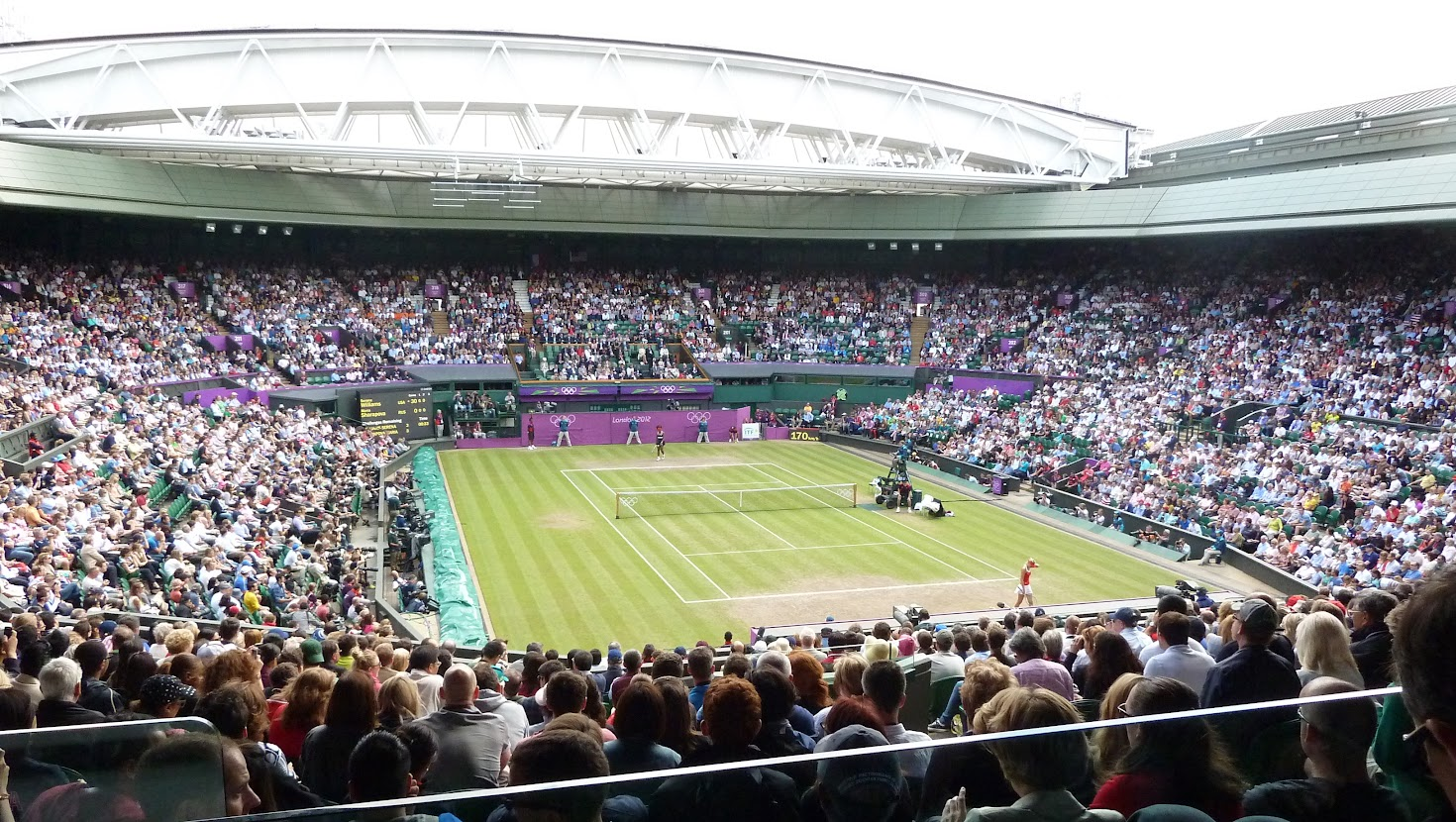Olympic women tennis final at Wimbledon, London, 2012