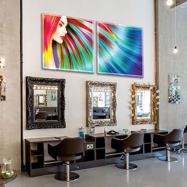 Tranh trang trí tiệm tóc
