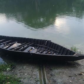 BOAT  by Md Zakir Hossain - Transportation Boats ( water, nature, lake, boat, outside )