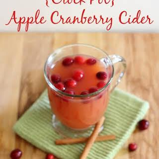 {Crock Pot} Apple Cranberry Cider.