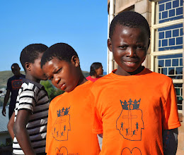 Photo: Each student received a colored tee shirt with the same logo of Swaziland crowned by the Lord of Lords. If you look at it just right it looks like Jesus wearing the crown.