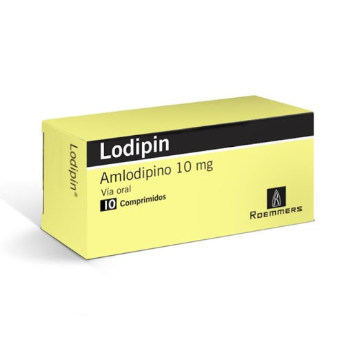Amlodipin Lodipin 10 mg x 10 Comprimidos Roemmers 10 mg x 10 Comprimidos