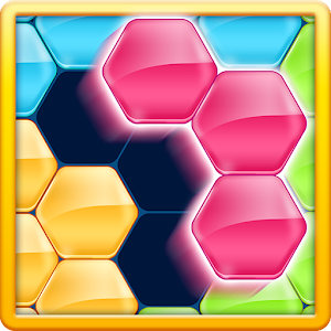"A Sequel to the best and juicy game ""BLOCK!""Drag and Fill up the hexagram! APK Icon"