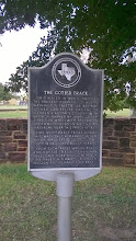 Photo: Gotier Trace marker, entrance to Bastrop State Park