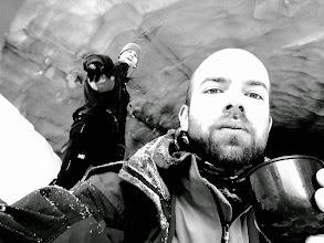 Photo: Gangster ski tourers bringing it inside a glacier