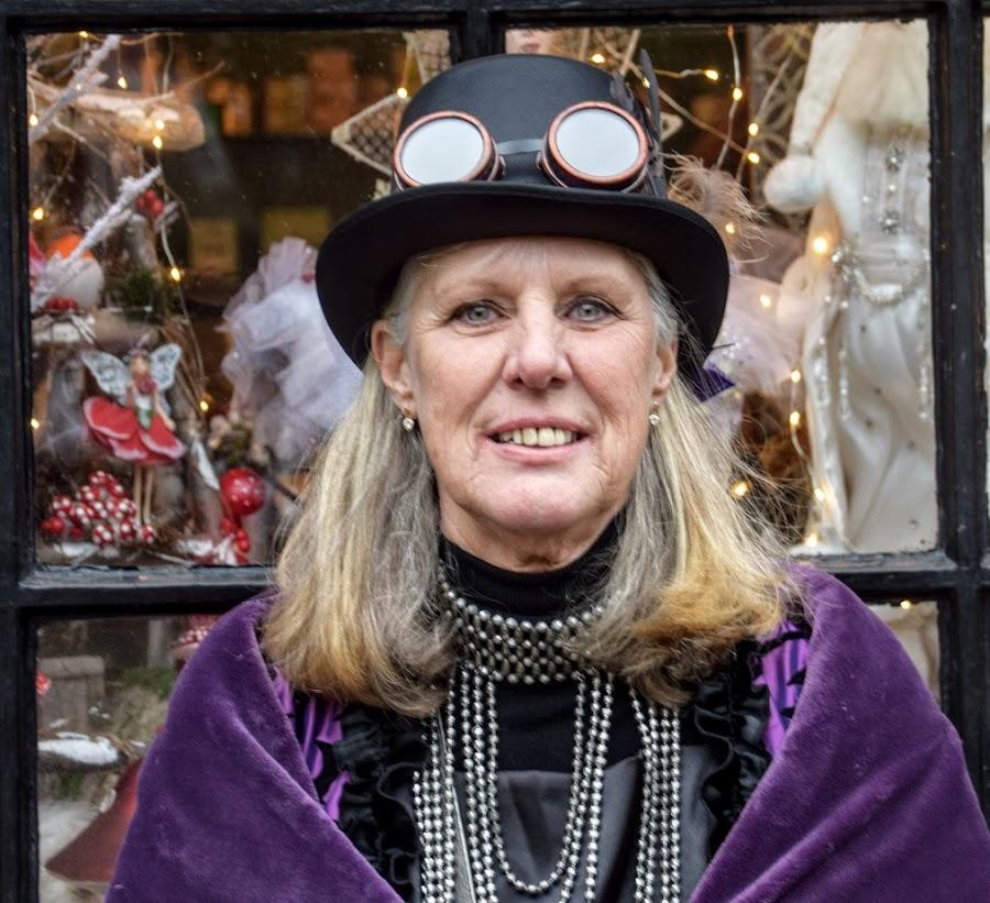 by Betty Taylor - People Street & Candids ( headshots, dressing up, purple, women )