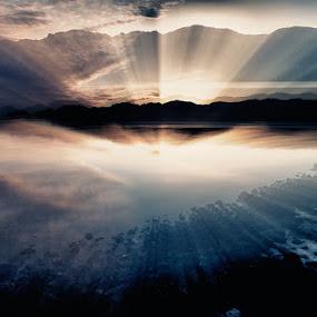 Illusion by Bragi Kort - Landscapes Starscapes ( kleifarvatn, iceland, bragi kort, bkort photogrpahy, long exposure )