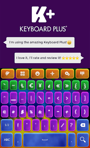 android Crazy Colors Keyboard Screenshot 3