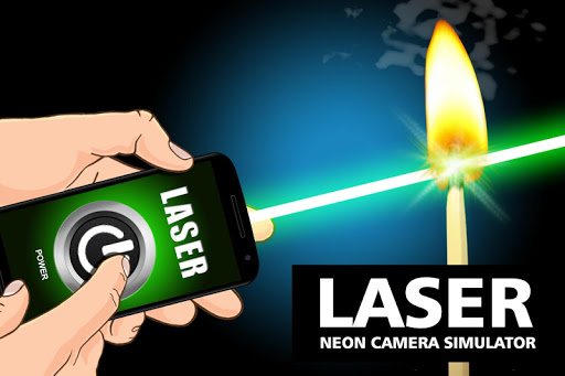 Laser neon camera simulator
