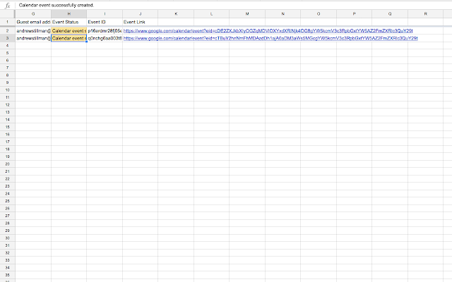 event o matic google sheets add on