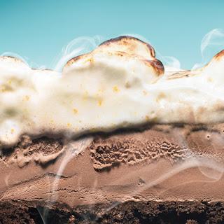 Mexican Chocolate Ice Cream Cake with Orange Meringue.