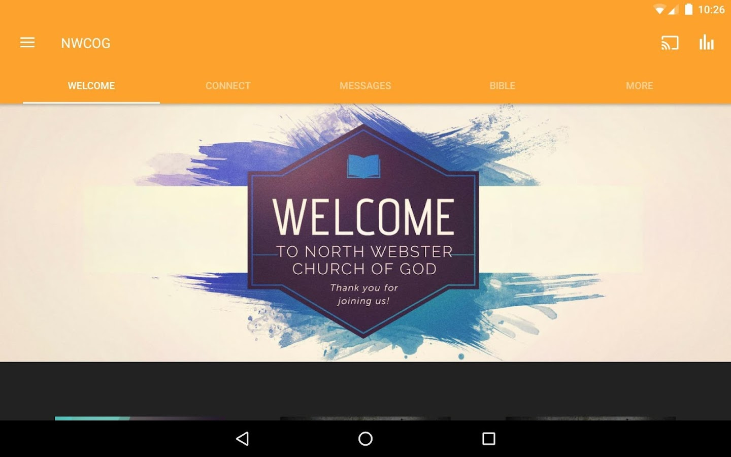 North Webster Church of God- screenshot