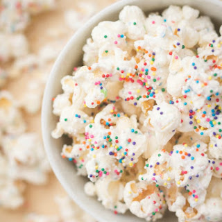White Chocolate Party Popcorn