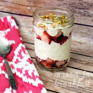 Strawberries & Pistachio Yogurt Parfait.