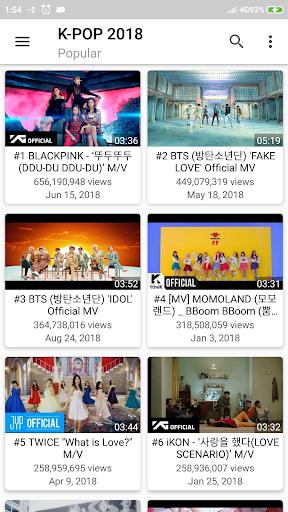 K-POP Tube - Popular & Recent 1.0.22 screenshots 1