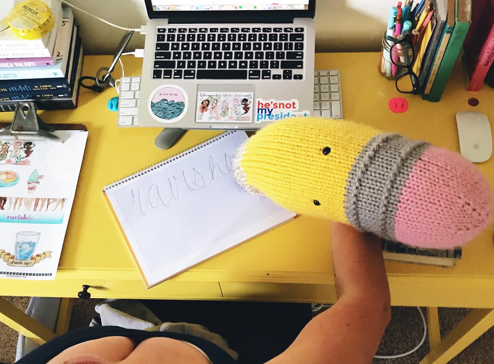 I knit that pencil.