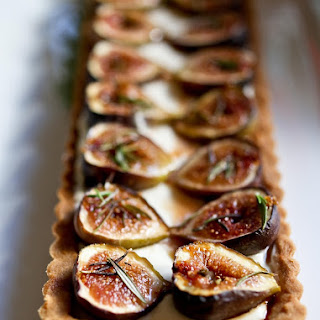 Roasted Fig Tart with Honey, Goat Cheese and Mascarpone Recipe