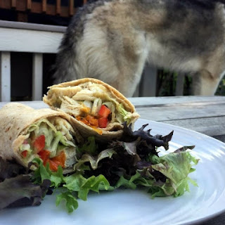 Chicken & Roasted Eggplant Wrap.