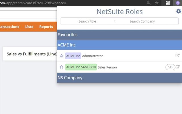 NetSuite Role Helper