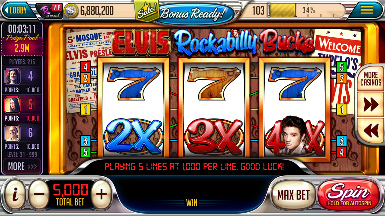 Instant Play Slots of Vegas Casino