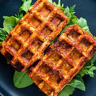 Barbecued Waffle Iron Tofu.