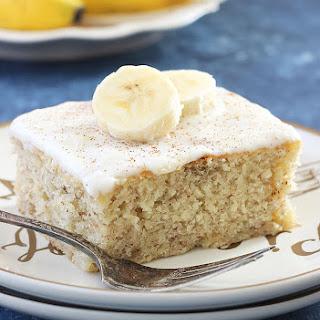 Banana Cake with Vanilla Frosting.