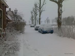 Photo: Sneeuwjacht, 10 jan. winter is nog steeds niet over