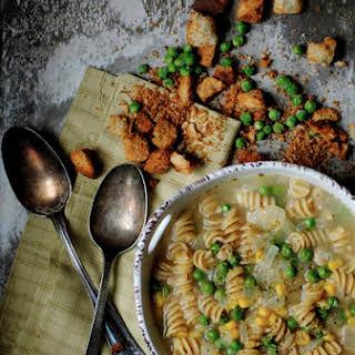 Pea, Bean, and Noodle Soup.