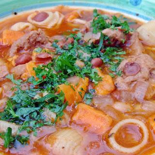 Sopa de Frijoles (Peruvian Bean Soup) [Vegan].