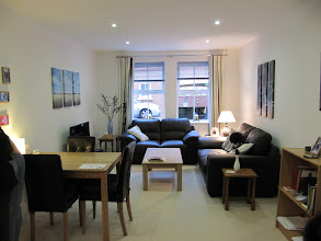 Photo: Living room and dining room, faculty flat # 2