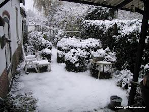 Photo: Ja hoor, ook onze tuin is wit