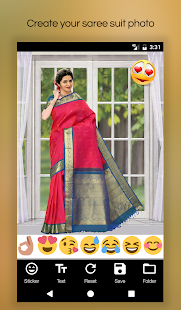 Women Saree Photo Suit Editor - náhled