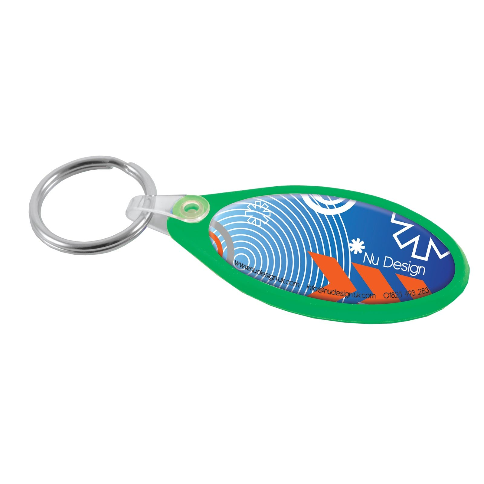 Oval Keyrings with Digital Full Colour Print