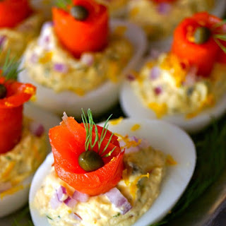 The Best Smoked Salmon Deviled Eggs