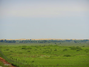 Photo: In the distance is the edge of the desert; I assume it's the Gobi.