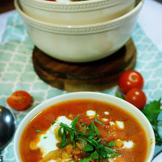 Creamy Tomato Soup with Lentils.