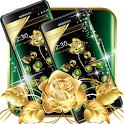Green Gold Flower Luxury Business Theme icon
