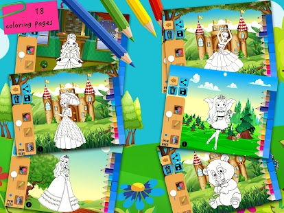 Juegos de colorear princesa gratis para nias  Aplicaciones de