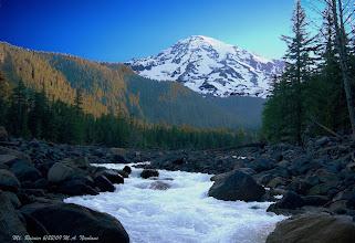 Photo: Mt. Rainier, summer solstice 2009