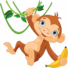 Monkey banana game icon
