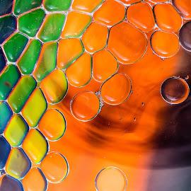 Orange by Nigel Bishton - Abstract Macro
