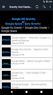 Google Gravity Tricks- screenshot thumbnail