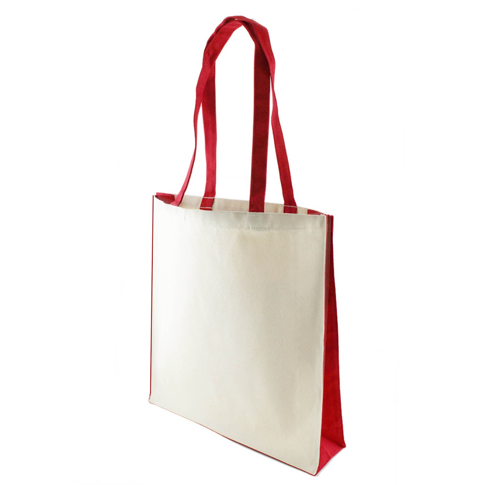 Canvas Shoppers with Colour Trim