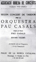 Photo: Programa d'un concert co-dirigit pels mestres Casals i Toldra el 31 d'octubre de l'any 1926 © Biblioteca de l'Orfeó Català